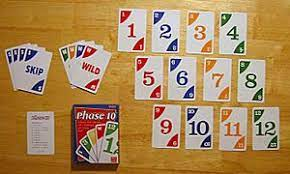 Players hold their 10 cards in hand so that the other players cannot see them. Phase 10 Wikipedia