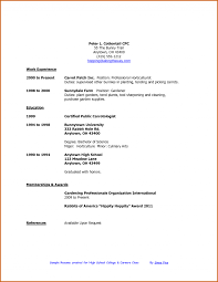Good College Application High School Student Resumes For Resume