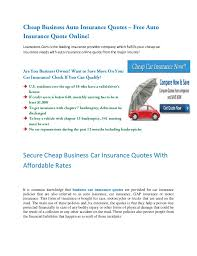 Business Insurance Quotes Delectable Business Car Insurance Quotes