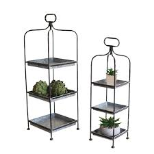 Trio Display Stands Fascinating Metal Display Stands Tall DisplayServing Trays On Stand By Kalalou