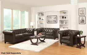 Leather Furniture Living Room Coaster Roy 504551 504552 Brown Leather Sofa And Loveseat Set