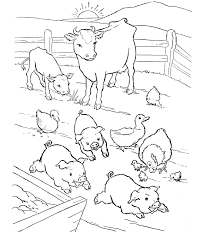 Farm Animal Coloring Page Barn Yard Pigs Party On The Farm