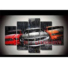 chevrolet muscle cars 5 pieces canvas prints wall art oil painting home decor unframed framed