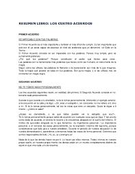 Los 4 acuerdos libro pdf descargar | libro gratis. Pdf Resumen Libro Los Cuatro Acuerdos Jose Ramirez Academia Edu