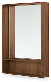 Durant Wall Mirror with Shelf - Modern Mirrors - Modern Bedroom ...