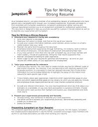 Examples Of Strong Resumes Delectable Examples Of Strong Resumes Unitedijawstates