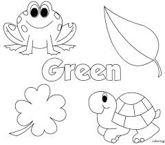 Fanciful Green Coloring Pages Brown Preschool Copy Color Activity
