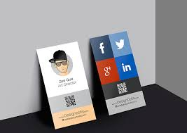 Card Design Template Vertical Business Card Design Template Free Vector In