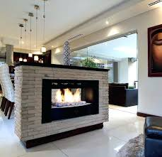 two sided gas fireplace logs horizon double