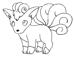 Vulpix Coloring Pages Getcoloringpagescom
