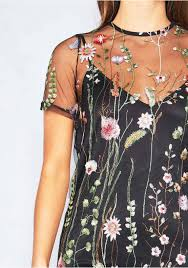 Iva Black Overlay Floral Embroidered Shift Dress Missy Empire