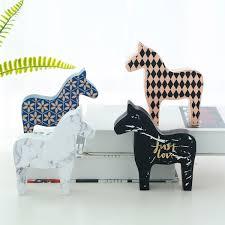 Buy 1 Piece <b>Wood</b> Horse <b>Art</b> Craft Simple <b>Nordic Style</b> Home ...