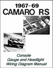 camaro rs headlight and console wiring diagram 67 69 camaro rs headlight and console wiring diagram