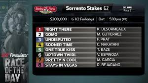 Racing Form Cool Wednesday Race Of The Day Sorrento Stakes Race Of The Day DRF