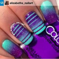 Purple And Teal Nail Designs Aqua Purple Nails