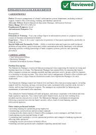 Bank Manager Job Description Chief Operations Officer Job Description