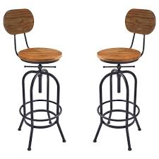 Adele Industrial Adjustable Barstool In Silver Brushed Gray
