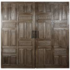 Pair Late 1800s Carved Wood Entry Doors from Mexico   Wood entry ...