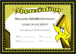Free Certificate Templates For Word Award Templates For Students Microsoft Word Award Certificates