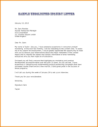 Unsolicited Cover Letter Sample 10 Solicit Letter Sample Cover Unsolicited Application