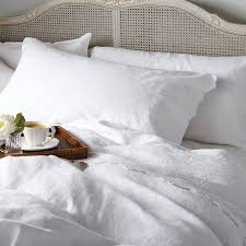 super king embroidered duvet cover huguenot white