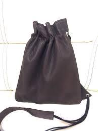 leather pouch shoulder bag drawstring purse mini shoulder bag s0696h made in slow low deerskin