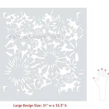 flower wall stencils large painted stenciled accent wall stencils with flower designs royal design studio big