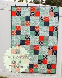 Baby Quilts Patterns. Half Snowball Quilt Block Tutorial. Easy ... & fast fourpatch quilt tutorial Adamdwight.com