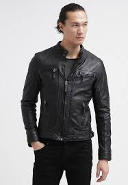 casey leather jacket black
