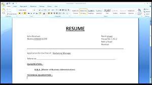 Format Resume Word | Resume CV Cover Letter