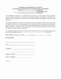 Tenant Guarantor Letter Template Sample