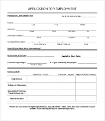 Job Application Form Template 8 Free Pdf Documents