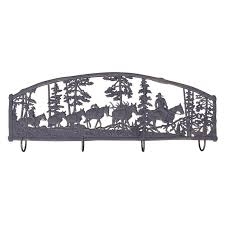 Cowboy Coat Rack Horse Cowboy Coat Rack Wall Art Storage Rack Painted Sky 67