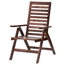 exterior chairs. ÄpplarÖ reclining chair, outdoor, foldable brown stained width: 24 3/ exterior chairs -
