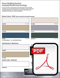 Nucor Building Systems Color Chart Insulated Panel Colors Nucor Building Systems