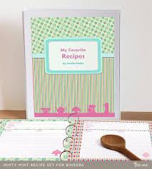Printable Recipe Binder Set Editable Pdf Cookbook Recipe Etsy