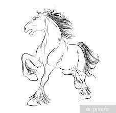 Fototapeta Vinylová Vektorový Obrázek Koně Tetování