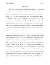 world hunger essay world hunger research paper final