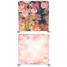 Cherry Blossom Backdrop 8ft 8ft Beautiful Pink Roses And Cherry Blossom Backdrop Tension Frame