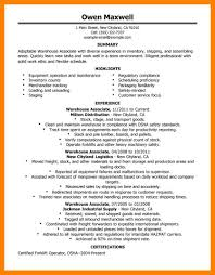 Sample Resume For Warehouse Worker 100 warehouse resumes job apply form 45