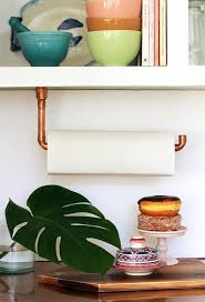 DIY Copper Pipe Paper Towel Holder