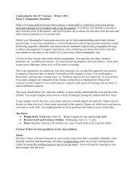 Short Essay On Leadership Leadership For The 21 Century Winter 2011 Essay 2