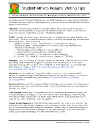 Athletic Resume Template Student Athlete Resume Writing Tips