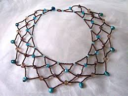 Beaded Necklace Patterns Simple Beaded Lace Necklace Tutorial