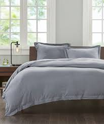 all gone heather gray cotton duvet cover set
