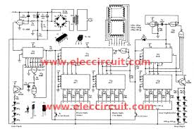 big digital clock circuit out microcontroller eleccircuit jumbo digital clock circuit