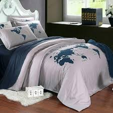 world map duvet cover uk dark blue and gray the world map nautical themed 5 star