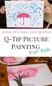 Super-fun, Easy, and Creative q-tip picture painting for kids-