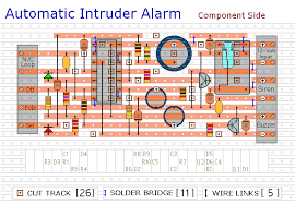 automatic intruder alarm circuit diagram how to build a burglar alarm using veroboard