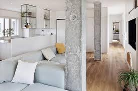 Incorporating concrete columns into modern interior design